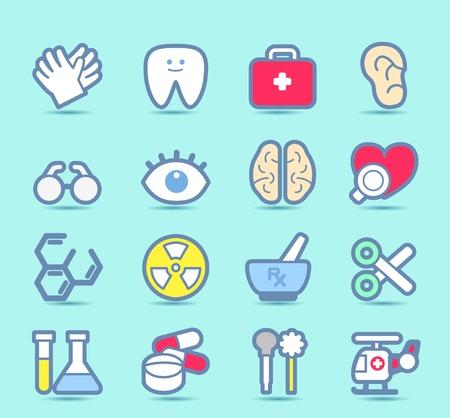 irradiation: Medical ,Emergency ,health care  icons set