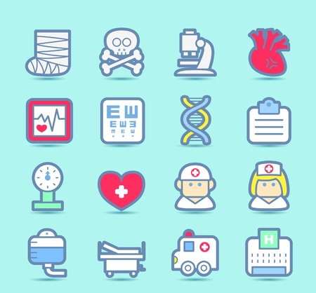 Medical ,Emergency ,health care  icons set Vector