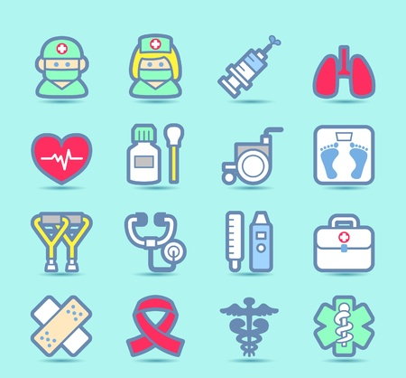 Medical ,Emergency ,health care  icons set Stock Vector - 11110865