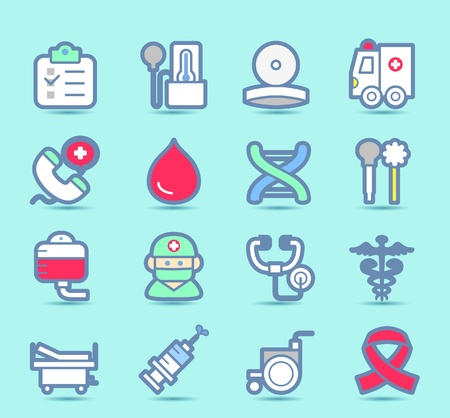 bandage: Medical ,Emergency ,health care  icons set