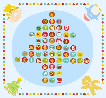 Vector illustration - set of christmas icons Stock Vector - 11110876