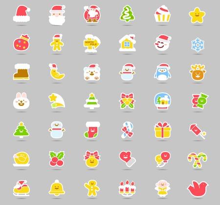 botas de navidad: Ilustración del vector - conjunto de iconos de Navidad