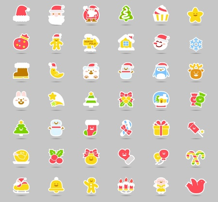Vector illustration - set of christmas icons  Stock Vector - 11110875