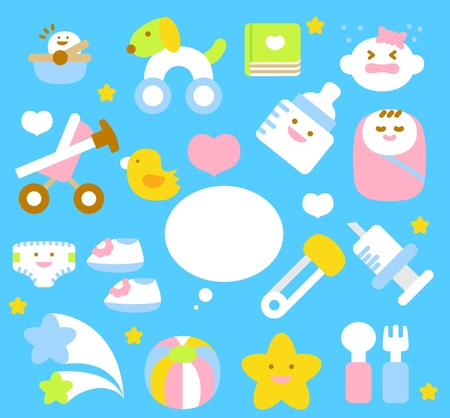 dog sleeping: simple baby icon collection