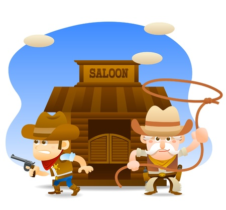 cowboy ready to fight Stock Vector - 11270381