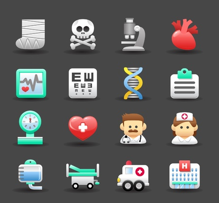 Medical ,Emergency ,health care icons set Stock Vector - 11270379