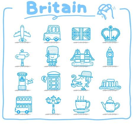 brytanii: Wyciągnąć rękę Wielkiej Brytanii, Wielka Brytania zestaw ikon