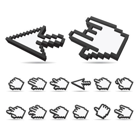 Vector Hand sign and arrow cursor  Stock Vector - 11495636