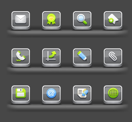 Business & Internet | Mobile devices apps icons Vector