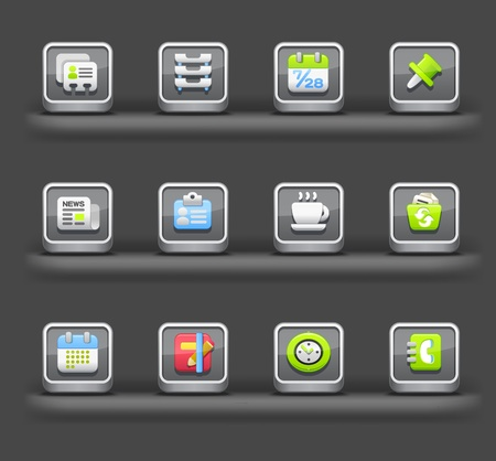 Business & Internet | Mobile devices apps icons Stock Vector - 11810249