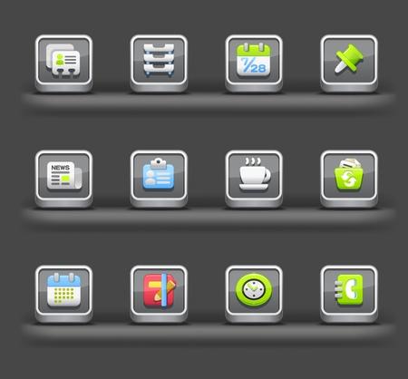Business e Internet | Dispositivos móviles aplicaciones de iconos Foto de archivo - 11810249