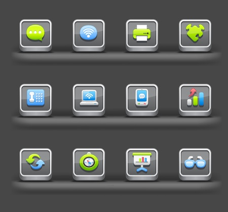 Business & Internet | Mobile devices apps icons Stock Vector - 11810247