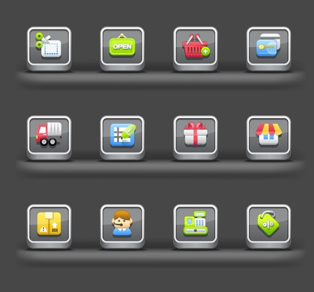 Business ,Shopping, Internet | Mobile devices apps icons Vector