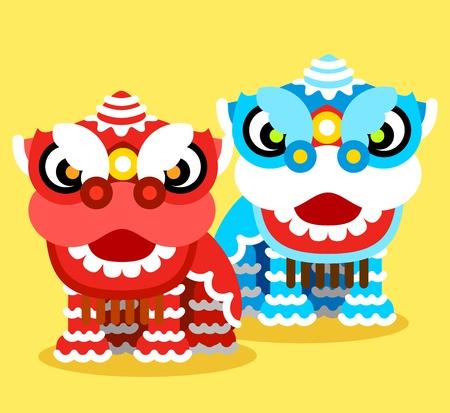 중국 새 해 축 사자 춤과