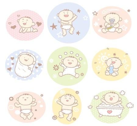 behaviours: Mano del beb� dibujado colecci�n para ni�o