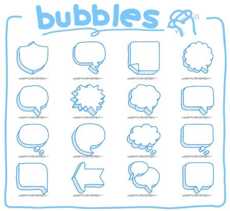 мысль: Слова и мысли пузыри Иллюстрация