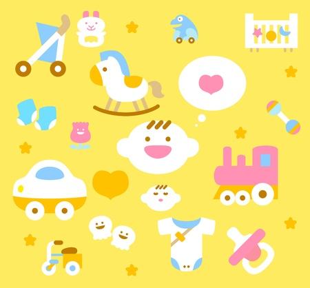 간단한 아기 아이콘 모음