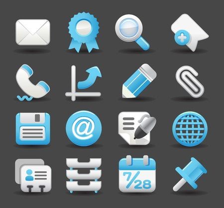 business , internet,office,work icon set  Stock Vector - 11981183