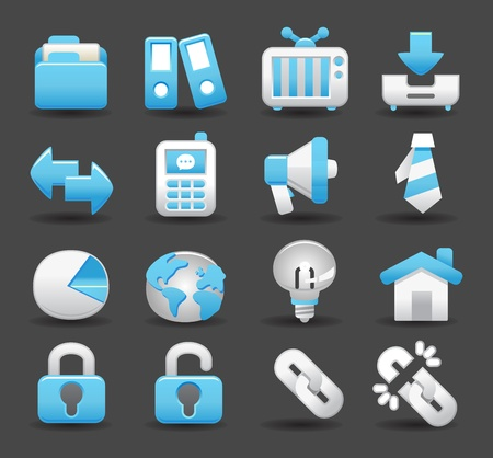 business , internet,office,work icon set Stock Vector - 11981180