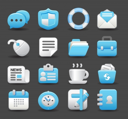 mail icons: business , internet,office,work icon set