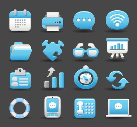 blue arrow: business , internet,office,work icon set