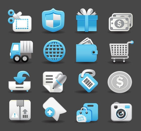 business,travel,shopping icon set Stock Vector - 12002089