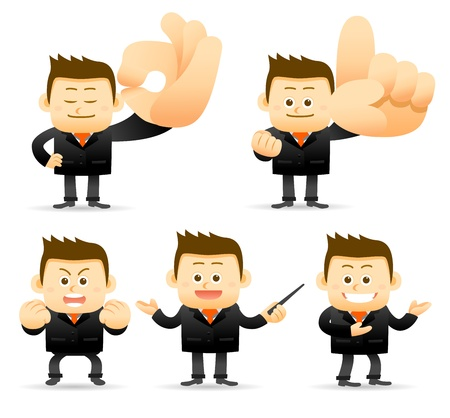 manager cartoon: businessman set Illustration