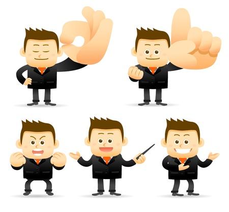 Zestaw biznesmen Ilustracje wektorowe