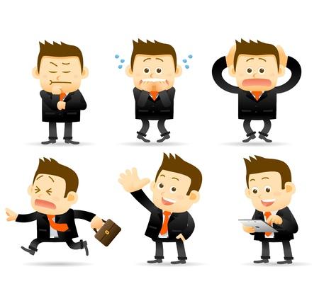 zakenman set Stock Illustratie