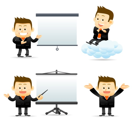 employ� heureux: d'affaires avec succ�s br�ve