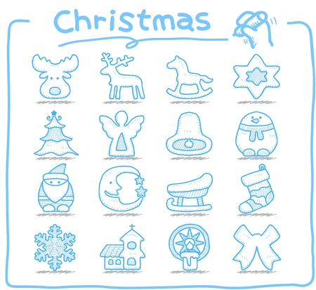 church bell: Pure series   Hand drawn Christmas,xmas,holiday icon set