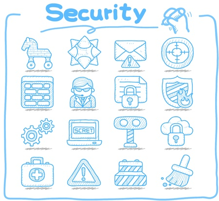 virus informatico: Mano serie Pure elaborado Navidad, navidad, día de fiesta conjunto de iconos