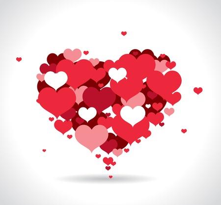 small hearts: Red love hearts