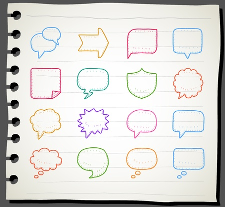 Sketchbook series   Speech And Thought Bubbles Vector