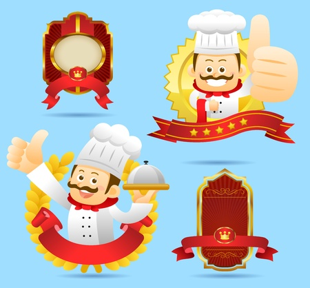 Chef, award badge set  Vector