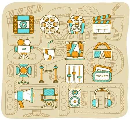 Mocha Series   Movie icon set Vector