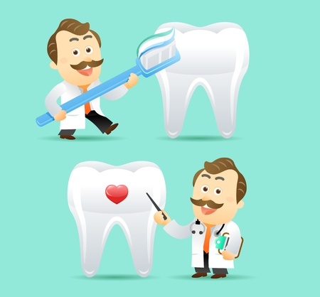 male dentist: Doctor and Teeth