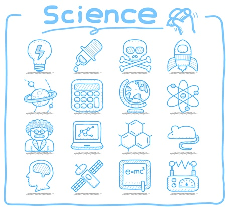 Pure Series   Hand drawn Science icon set Ilustração