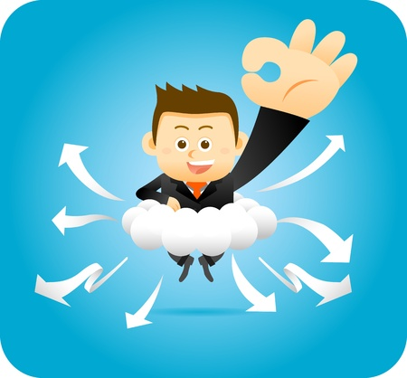 Elegant People Series   Personal Cloud Concept Stock Vector - 12817072