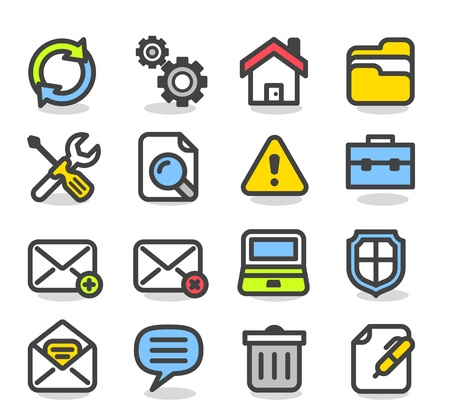 Simple series   Web,Internet, Business icons Set Stock Vector - 12817083