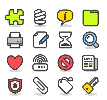 Simple series   Web,Internet, Business icons Set Stock Vector - 12817078