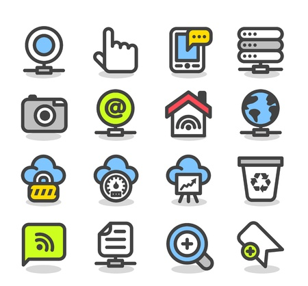 Simple series   Web,Internet, Business icons Set Stock Vector - 12817080