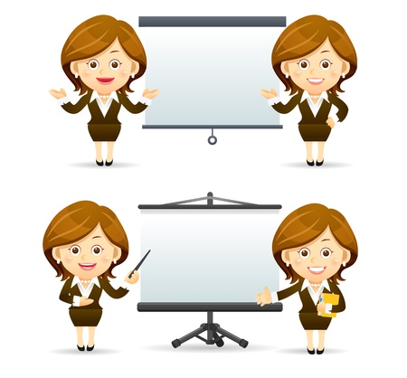 Elegant People Series   Businesswoman  set Stock Vector - 12817089