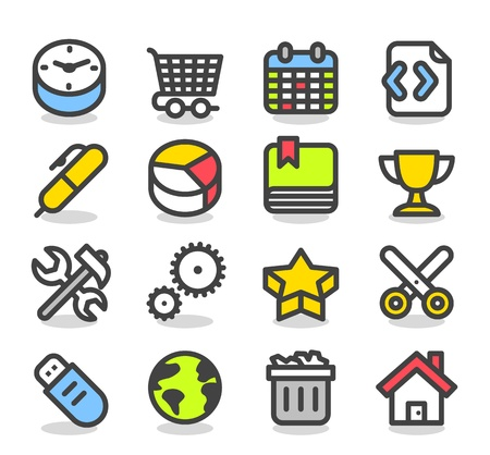 Simple series   Web,Internet, Business icons Set Vector