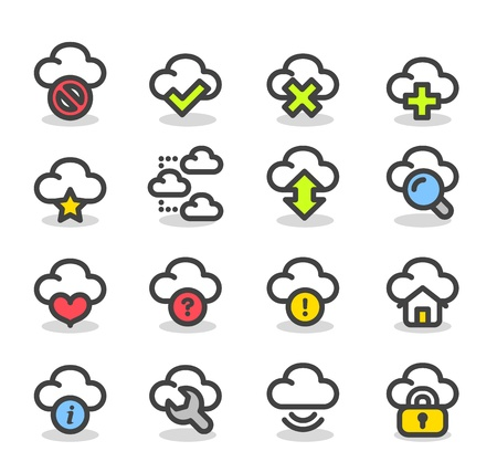 Simple Series   Internet,business,cloud computing icon set Vector