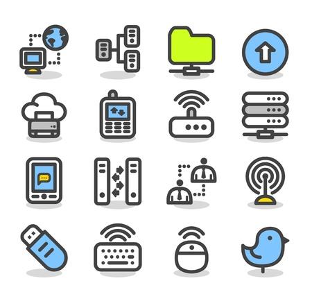 Simple Internet de la serie, los negocios, la computación en nube icono de conjunto Foto de archivo - 12945973