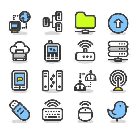 color printer: Simple Series   Internet,business,cloud computing icon set Illustration