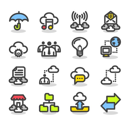 simple store: Simple Series   Internet,business,cloud computing icon set Illustration