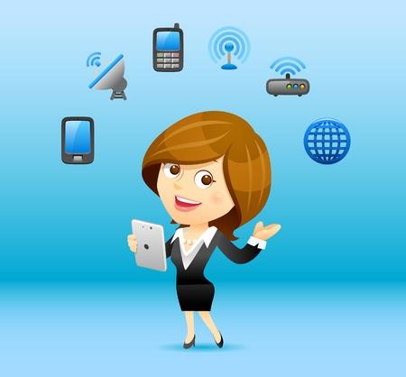 Businesswoman communication concept Stock Vector - 12945977