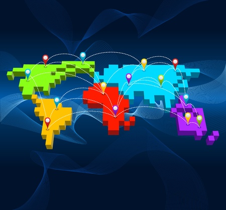 thinking bubble: Network, Global Communication concept